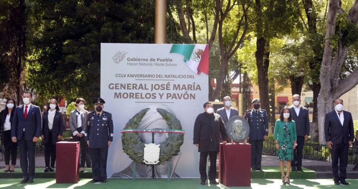 Conmemoran el 255 Aniversario del Natalicio de Don José María Morelos y Pavón