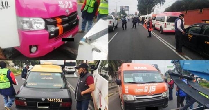 Asegura SMT 12 unidades irregulares en San Pedro Cholula