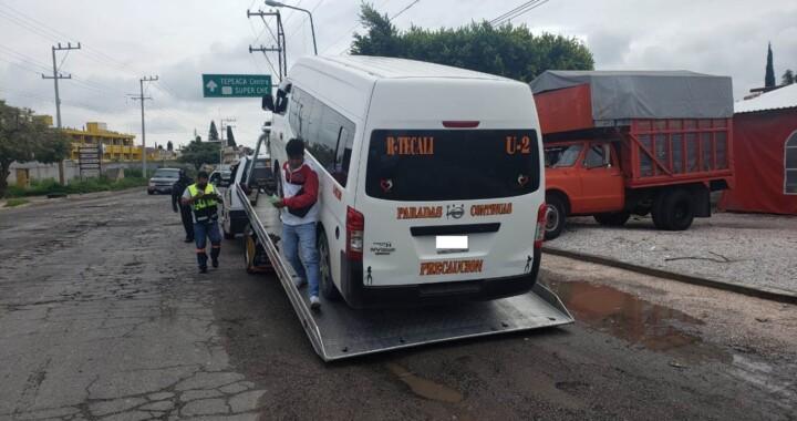 Asegura SMT 12 unidades irregulares en el municipio de Tepeaca