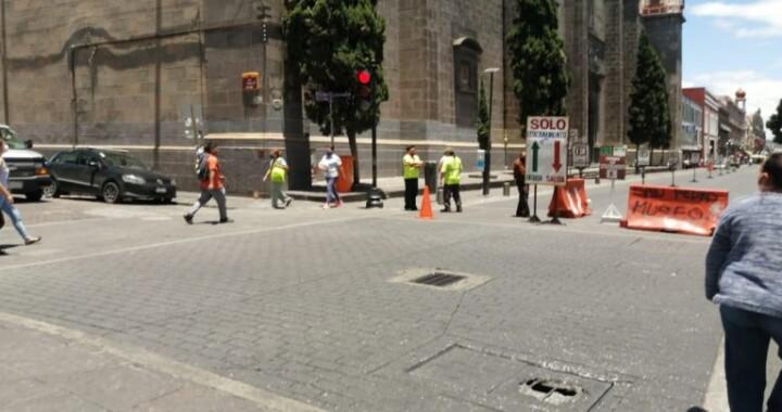 Mantendrán cierre de calles en el Centro Histórico de Puebla