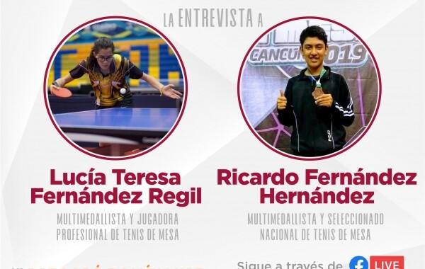 No te pierdas la charla con Ricardo Hernández y Lucía Fernández, jugadores de tenis de mesa
