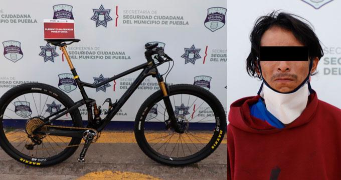 Atrapan a hombre que robó una bicicleta