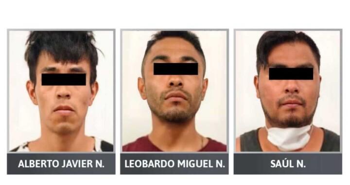 Prisión preventiva para tres sujetos responsables de robo a gasolinera