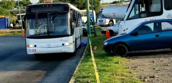 Fallece tras ser atropellado por camión de RUTA Línea 1 en Tlaxcalancingo