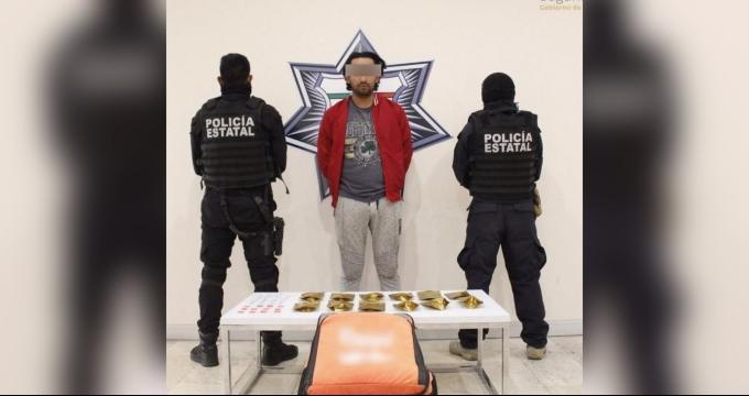 Presunto narcomenudista se hace pasar por repartidor de comida