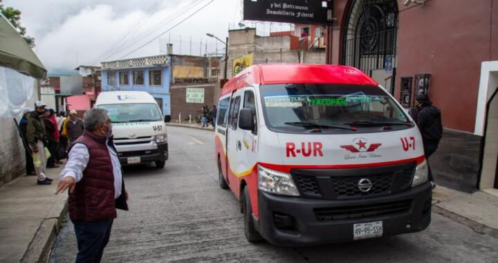 Realiza SMT operativos de sana distancia en el transporte público de Teziutlán