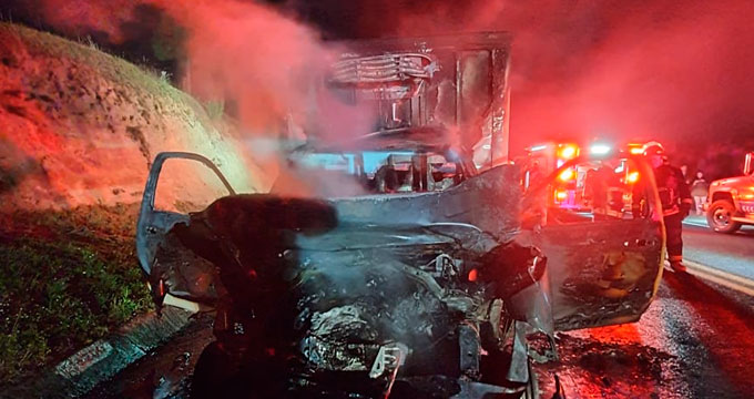 Muere conductor en choque  en la autopista Amozoc-Perote