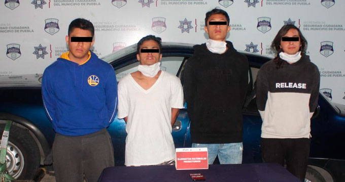 Capturan a un grupo organizado para delinquir
