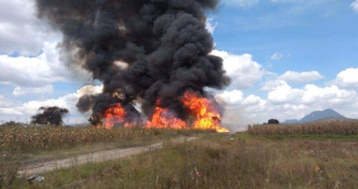 Incendio controlado para reducir fuga en Tepeaca