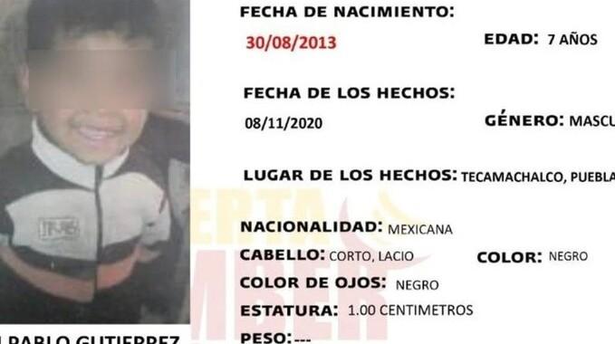 Encuentran sin vida a Pablito, un niño reportado como desaparecido