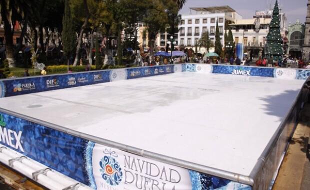 La pandemia de Covid-19 se lleva la pista de hielo del Zócalo de Puebla