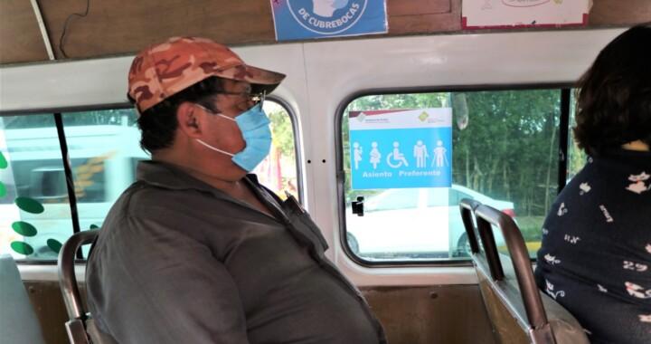 Realiza SMT operativo de sana distancia a transporte colectivo en la Sierra Norte