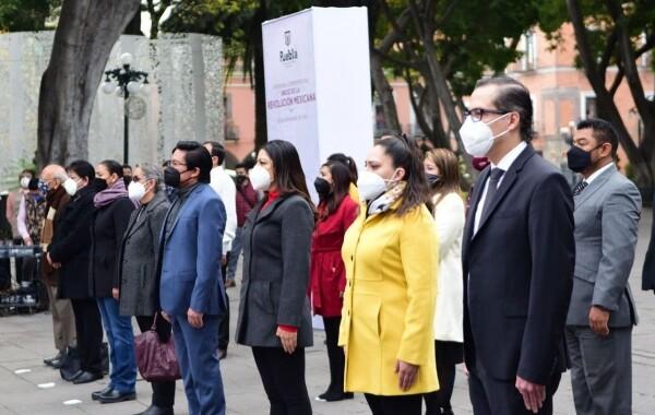 Rivera Vivanco encabeza ceremonia por el 110 Aniversario de la Revolución Mexicana