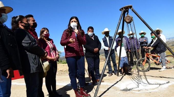 Entrega Ayuntamiento obras de infraestructura hidrosanitaria y educativa en la Junta Auxiliar San Andrés Azumiatla