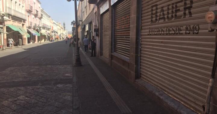 Sin ambulantes, el Buen Fin 2020 en el Centro Histórico de Puebla