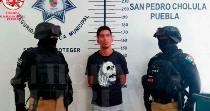 Detienen a hombre que portaba arma ilegal en San Pedro Cholula