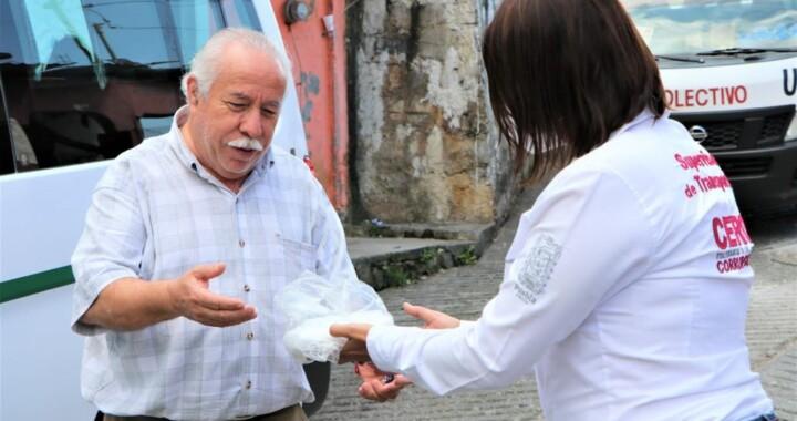 Realiza Movilidad y Transporte operativo de sana distancia en Xicotepec