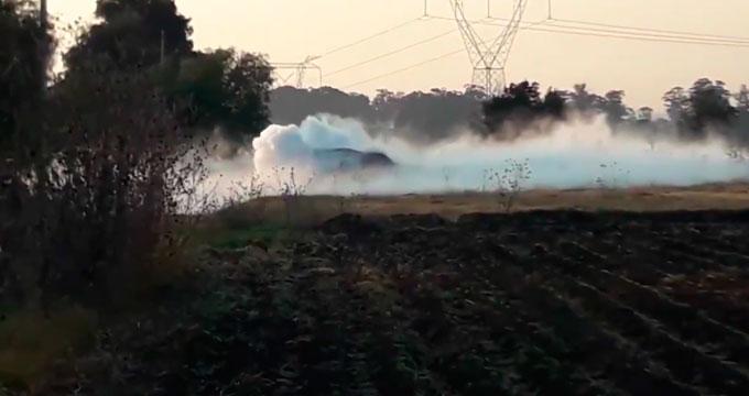 Toma clandestina provoca fuga de gas en San Salvador El Verde