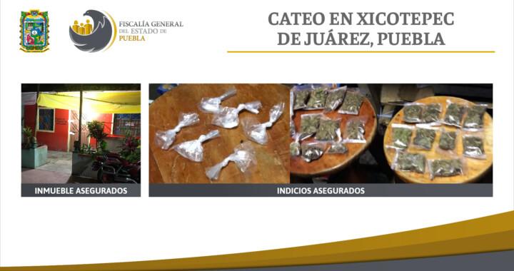Aseguran mariguana y cristal durante cateo en Xicotepec