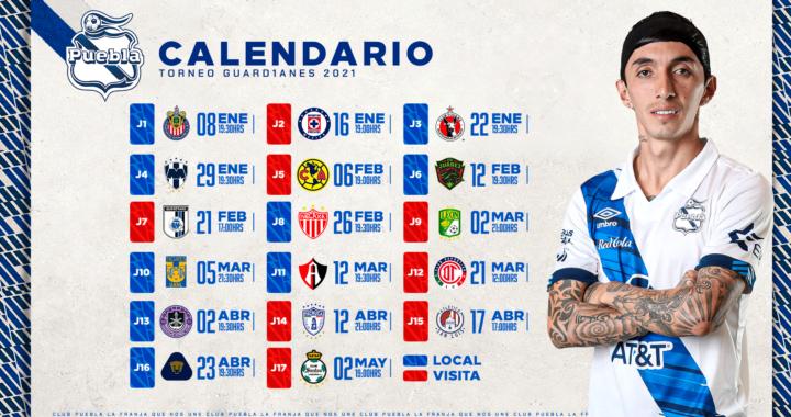 Calendario Guard1anes 2021: inicia con el juego Puebla Vs Chivas