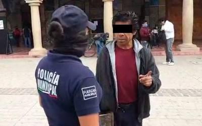¡Cayo el primero! Por no usar cubrebocas en Tehuacán