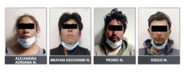 Prisión contra cuatro personas detenidas con droga en Texmelucan