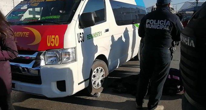 Conductor se pasa alto y atropella a mujer en el bulevar Valsequillo