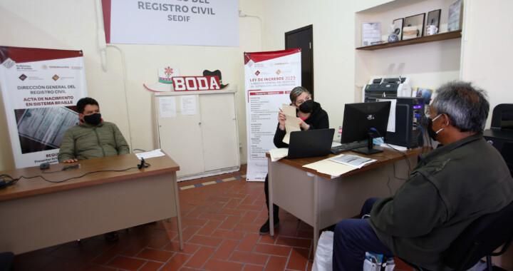 Módulo de Registro Civil del SEDIF mantiene servicios