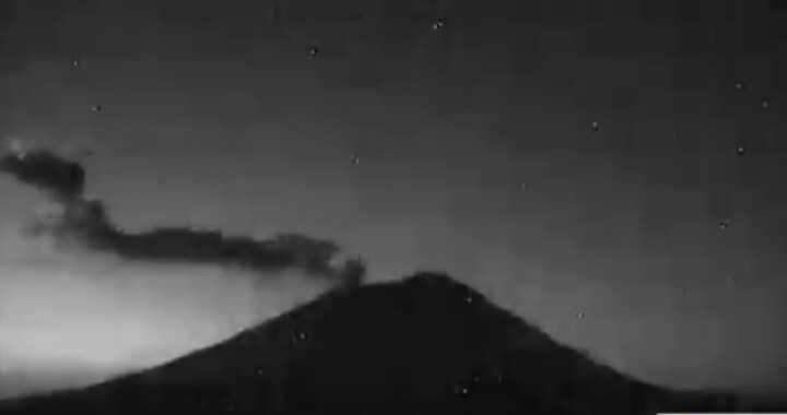 Popocatépetl registra tres explosiones y 27 exhalaciones