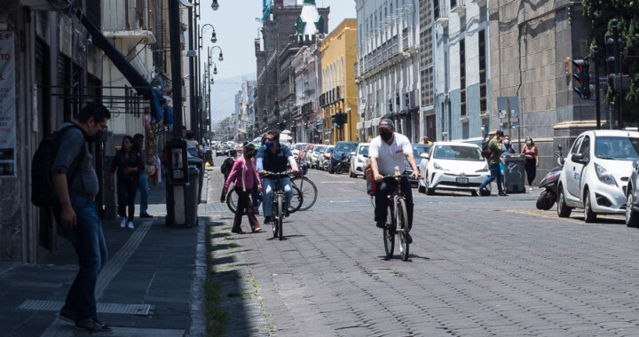 Puebla figuran como ciudad con más uso de bicicleta