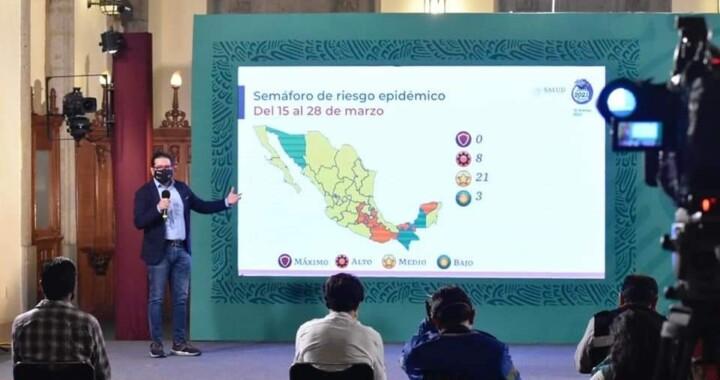 Puebla permanecerá en semáforo naranja de riesgo por Covid-19