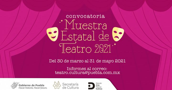 """Secretaría de Cultura abre la convocatoria """"Muestra Estatal de Teatro 2021"""""""