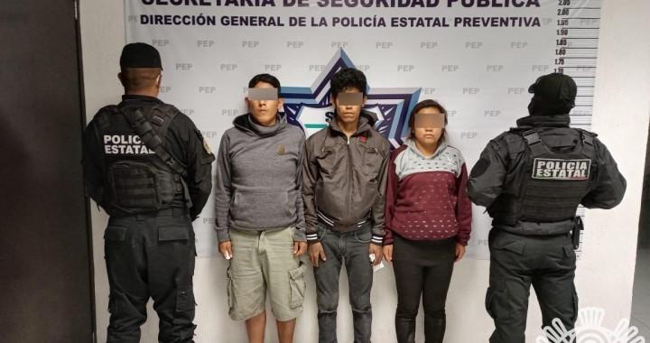 Detienen a tres presuntos distribuidores de droga en la colonia Historiadores