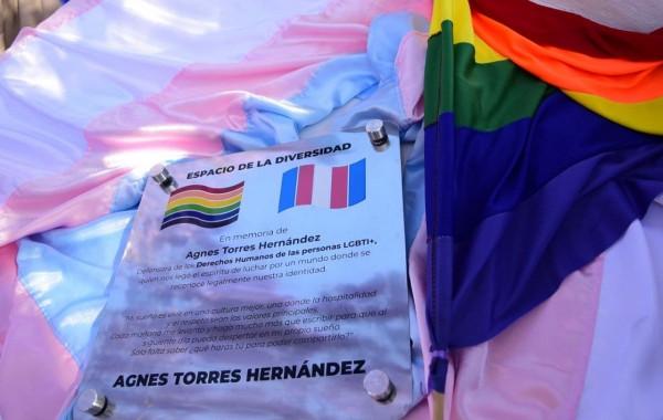 Develan placa en honor a la activista Agnes Torres