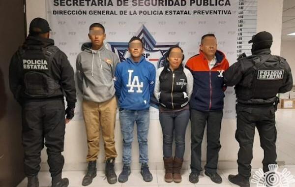 Detienen a cuatro presuntos distribuidores de droga en Santa Lucía