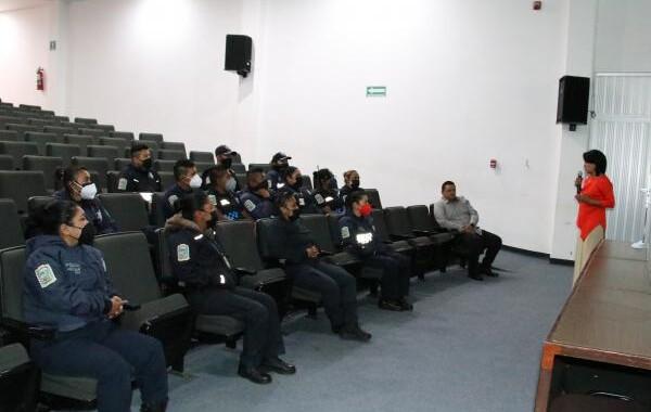 Capacita ISSSTEP a elementos de la Policía Auxiliar en el marco del Programa Hospital Seguro