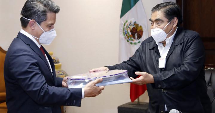 Plantea Barbosa construir agenda entre Puebla y Alemania para la consolidación de inversiones