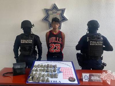 Capturan a presunto distribuidor de droga en Balcones del Sur