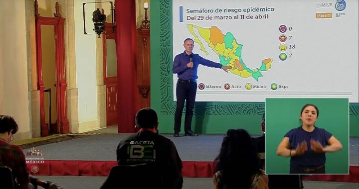Puebla permanecerá en semáforo naranja federal