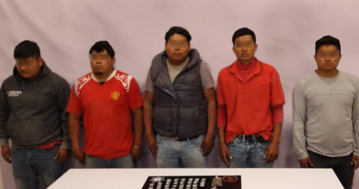 Detienen a cinco presuntos asaltantes de granjas en Tepanco de López