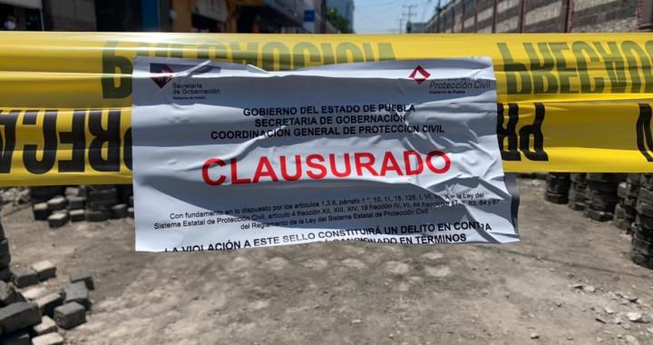 Clausuran obras del Centro Histórico por falta de permisos
