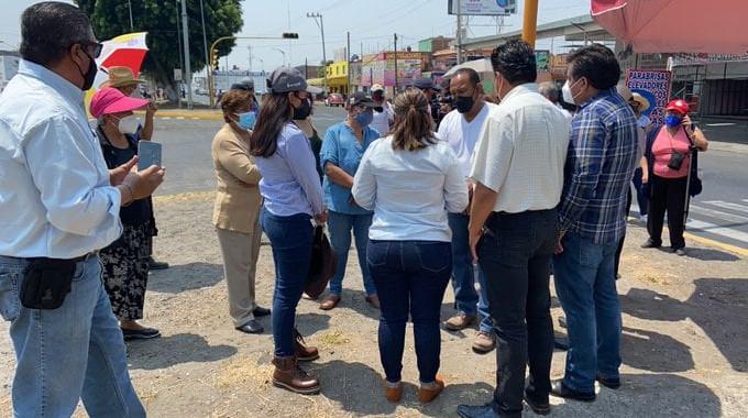 Habitantes de Hueyotlipan se manifiestan contra Agua de Puebla por falta de suministro