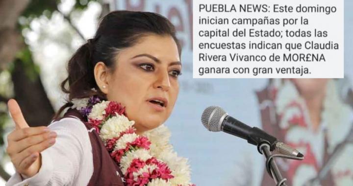 Por tercera vez, aparecen mensajes de texto promoviendo a Claudia Rivera Vivanco