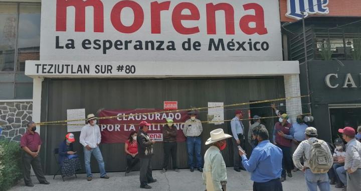 Morena procederá penalmente contra los responsables de allanar oficinas en La Paz