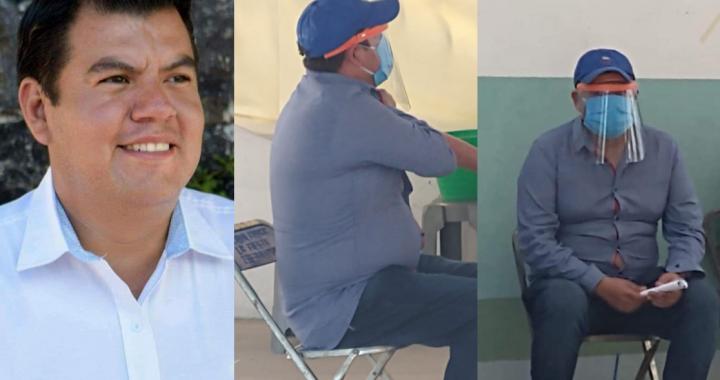 Denuncian ante la FGE a candidato del PAN que se hizo pasar por adulto mayor para vacunarse