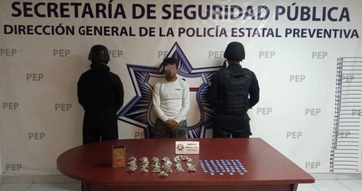 Detienen a presunto narcomenudista en Villa Frontera