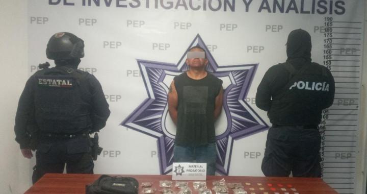Detiene SSP a presunto narcovendedor en Nopaculan