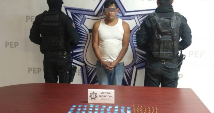Detienen a presunto narcomenudista en Santa Isabel Cholula