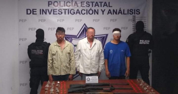 """Detienen a tres presuntos integrantes de """"Los Marroquín"""""""