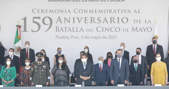 Barbosa preside Ceremonia Conmemorativa al 159 Aniversario de la Batalla del 5 de Mayo